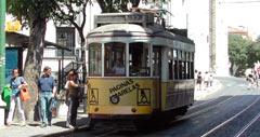 tranvía en Lisboa