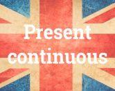 'Present continuous': el presente continuo en inglés