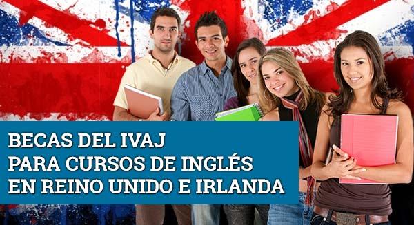 Becas para cursos de inglés IVAJ para estudiar en Reino Unido e irlandal