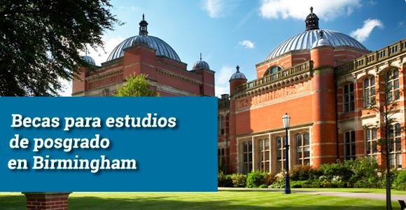 a Universidad de Birmingham convoca nuevas becas para realizar estudios de máster