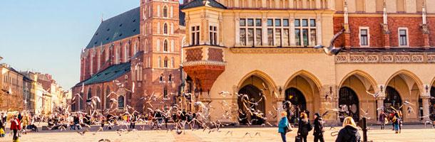 Dentro de los mejores destinos para las becas Erasmus tenemos Cracovia