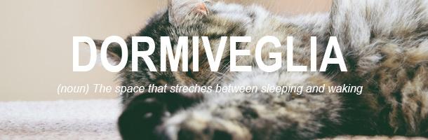 Dormiveglia es otra de las palabras más bonitas del italiano que queremos destacar