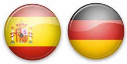 bandera de España y Alemania