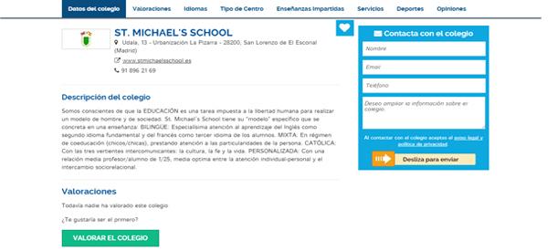 Aporta tu opinión sobre los colegios bilingües que conozcas
