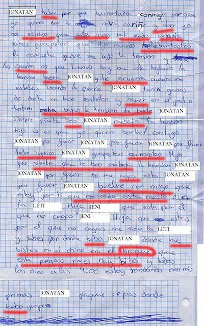 hoja escrita con faltas