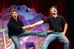 comediantes en festival de la comedia de Melbourne