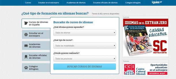 Con el nuevo buscador de idiomas no te costará encontrar el curso que buscas