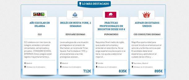 El nuevo buscador de idiomas incorpora cursos destacados