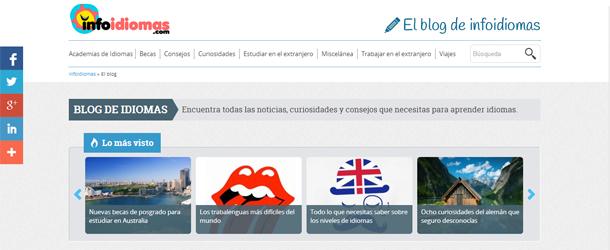 El nuevo buscador de idiomas también cuenta con su propio blog