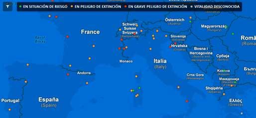 mapa interactivo de idiomas en peligro de extinción