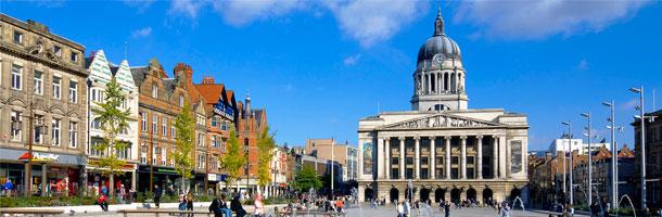 También entre los mejores destinos para las becas Erasmus tenemos a Nottingham