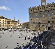 La Piazza della Signoria es el lugar más animado de toda Florencia