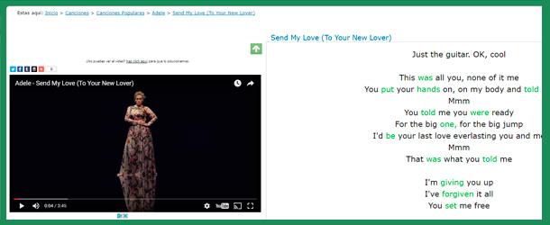 Para aprender inglés con canciones esta web podría venirte bien