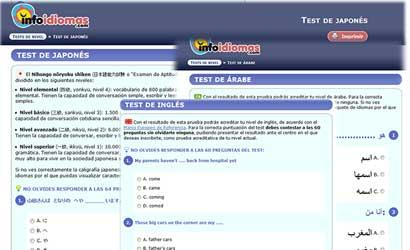 test de idiomas