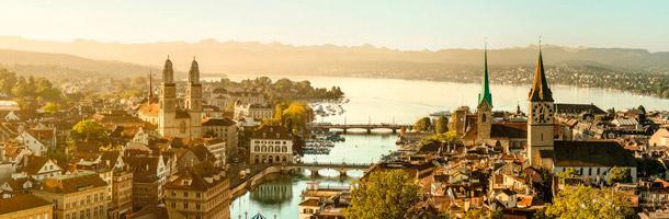 Incluimos también entre las ciudades para aprender francés a Zúrich